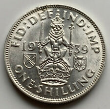 More details for 1939 scottish reverse one shilling - george vi silver coin - high grade key date