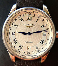 Longines Master Collection World Timer Automatik señores reloj de pulsera l2.518.4