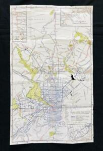 PHILADELPHIA 1932 POSTER MAP ORIGINAL RAPID TRANSIT Trolley Subway Pennsylvania