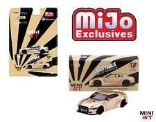 TSM MINI GT 1:64 NISSAN GT-R R35 LIBERTY WALK LIMITED SATIN GOLD MGT00030-MJ