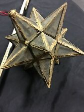 Vintage Moravian oversized Star hanging Lantern light Candle holder12 inches.