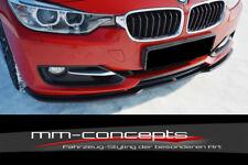 CUP Spoilerlippe SCHWARZ für 3er BMW F30 Bj. 11-15 Front Lippe Schwert Ansatz V1