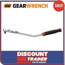 """GearWrench 81213F 3/8"""" Drive Cushion Grip Offset Flex Handle 84 Tooth Ratchet"""
