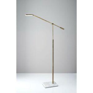 Adesso Vera LED Floor Lamp, Antique Brass - 4129-21