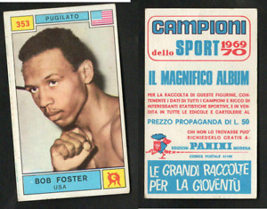 "Bob Foster ""The Deputy Sheriff"" (USA) Panini Boxing CARD 1969 MINT n.353 ▓"