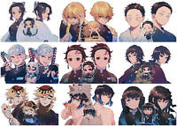 Anime Demon Slayer Kimetsu no Yaiba Polypropylene 9 Pieces Wall Poster A3-poster