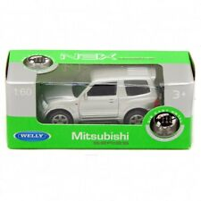 Mitsubishi Pajero, Welly NEX, Silver, Diecast Car, 1:60, 1:64
