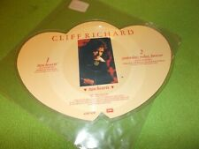 "CLIFF RICHARD Two Hearts 7"" PICTURE DISC 1988 EMI Shaped! UK"