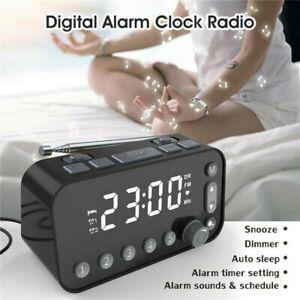 Funk DAB+ Radiowecker Tischuhr FM UKW Uhrenradio 2x Alarm 2USB LED Projektion