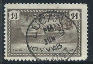 Canada #270(10) 1946 14 cent HYDROELECTRIC STATION LUCAN ONTARIO SOTN