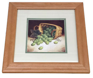 Longaberger Tea Basket with Grapes Framed Print by Richard Cowdrey