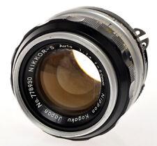 Nikon standard fast lens 50mm F:1.4 Nikkor-S F/AI mount, front lens damaged