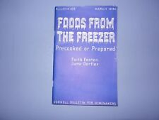 old vintage foods from the freezer bulletin cornell university recipes book 1946