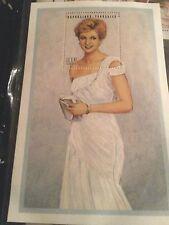 Princess Diana White Chiffon Dress Stamp/Certificate of Authentcity
