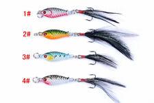 4x 6g Metal Spoon Fishing Hard Lure Spinner Spoon Baits