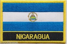 Nicaragua Flag Embroidered Patch Badge - Sew or Iron on