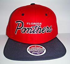 Florida Panthers Authentic Script Snapback Hat New Zephyr Cap