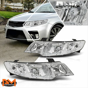 For 10-13 Forte Koup OE Factory Style Chrome Housing Clear Corner Headlight/Lamp