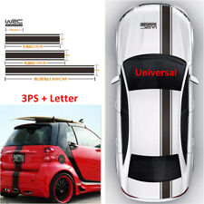 3x Auto Car SUV Cover Rroof Trunk Decal Vinyl Body Stripe Decals Sticker +Letter