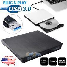USB 3.0 COMBO CD/DVD-RW Drive External Slim Burner Writer Rewriter for PC Laptop