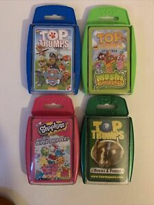 Top Trumps Bundle X4 Paw Patrol, Moshi Monsters, Shopkins And Horses And Ponies
