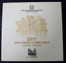 ITALIA REPUBBLICA 2011 DIVISIONALE SERIE ZECCA 10 MONETE IN EURO FDC CON  5 EURO