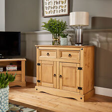 Corona Storage Cupboard Solid Pine 2 Drawer Door Wooden Mexican Cabinet Second