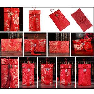 Chinese-New Year Red Money Bag Packet-Pocket Sachet Envelope Festival Gift-Decor