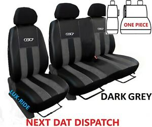 CITROEN DISPATCH 2017 - 2021 ART. LEATHER & ALICANTE TAILORED FRONT SEAT COVERS