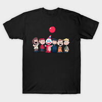 Serial Peanuts Serial Killer Funny Halloween Linus Lucy Black T-Shirt S-6XL