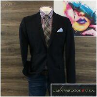 John Varvatos USA Mens Sport Coat Blazer Two Button Wool Jacket Size 44L