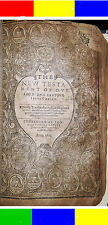 1612-1613 ANTIQUE KING JAMES POCKET HOLY BIBLE Jesus Christian Religious Church