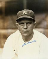 Joe Sewell 8 x10 Autographed Signed Photo ( Yankees HOF ) REPRINT