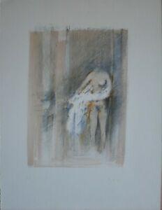 GIUSEPPE AJMONE litografia Risveglio   61x46 anno 1971 firmata numerata pa