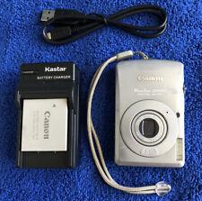 Canon PowerShot SD630 Digital Elph 6 MP Digital Camera Silver~Nice~~USB~~Charger