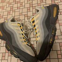Nike Air Max 95 No Sew Cool Grey Yellow White Mens Size 13 Rare 511306-071
