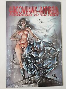 SHADOWHAWK / VAMPIRELLA CREATURES OF THE NIGHT GRAPHIC NOVEL AUTOGRAPHED w COA