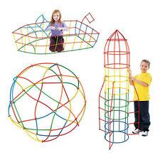 50PC/Bag New Building Toy Straws Blocks Connectors Assemble Kits Kids Child Toy