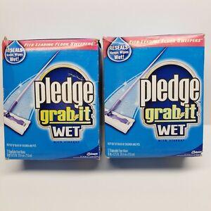 2 Pledge Grab It Wet Disposable Floor Pads 12ct With Vinegar