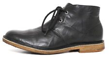 UGG Leighton Leather Ankle Boots Black Men Sz 9 1118