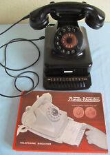 Altes Post Telefon  Okt. 1957  schwarz  W-48 Bakelit  mit Register  W 48