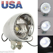 Motorcycle LED Headlight Head Lamp Chrome For Harley Chopper Custom Cafe Racer