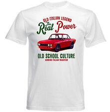 VINTAGE ITALIAN CAR LANCIA FULVIA COUPE-NUOVO T-shirt di cotone