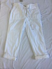George Women's White 3/4 Trousers Size Uk 8 / EUR 36