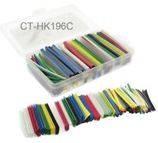 "Heat Shrink Tubing Kit, 196-pcs 95mm/3.7"" Long, 7 Colors, 6 Diameters, 2:1 Ratio"