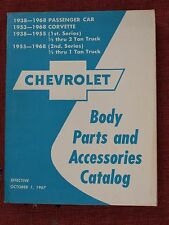 1938 - 1968, Chevrolet, Body Parts and Accessories Catalog, Truck Car