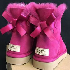 UGG Australia Women's Mini Bailey Bow Boots II Red Violet 5 6 9 10 2016 Version