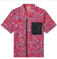 Nike X ACG Full Zip Men Shirt Print Bordaux Black CD7636 634