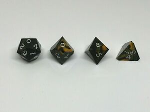 Gamescience Tiger's Eye dice (incomplete 4 dice set)