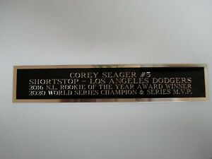 Corey Seager Dodgers Engraved Nameplate For A Baseball Jersey Display Case 1.5X6
